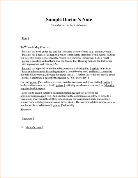 doctor note pdf 7 doctors note template pdf authorizationletters org