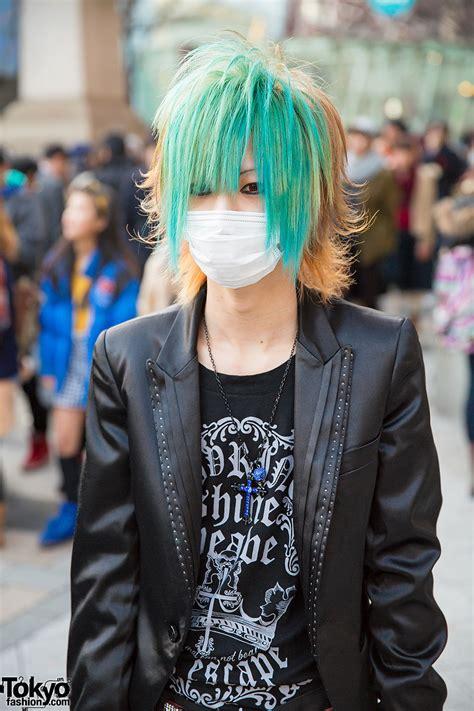 Vkei Visual Kei Harajuku Shirtblazer By Bodyline Japan aqua haired harajuku w ghost of harlem studded
