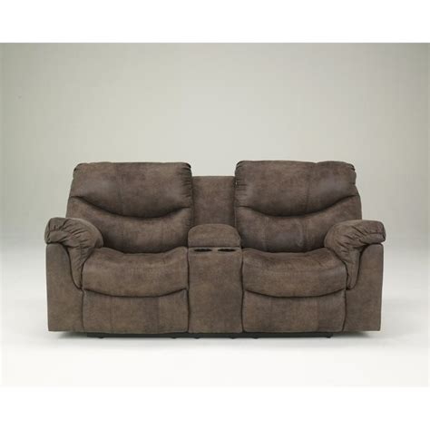 ashley double recliner ashley furniture alzena faux leather double reclining