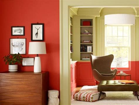 paint a wall or two with tangerine to brighten up any room tangerine