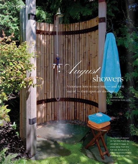 Outdoor Shower Like The Bamboo Could Use Bamboo Fencing Garden Shower Ideas