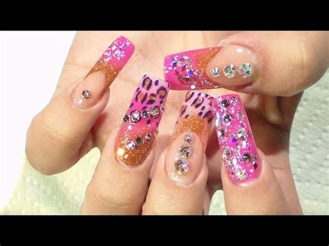 imagenes de uñas en acrilico 2015 tutorial u 241 as rosadas y animal print natos nails u 241 as