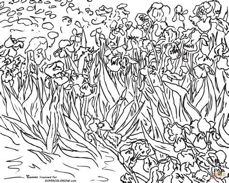 gogh coloring pages coloriage iris par vincent gogh coloriages 224