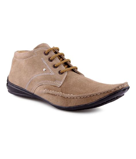 v 5 beige nubuck leather casual shoes for price in