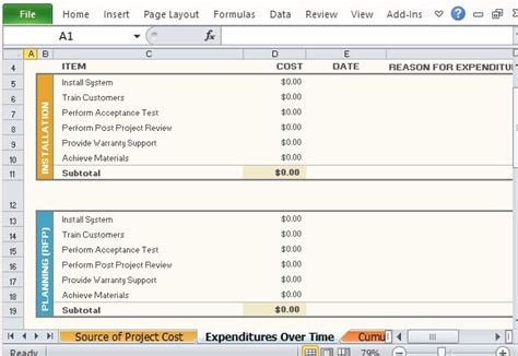 Free Project Budget Template For Excel 2013 Project Budget Plan Template Excel
