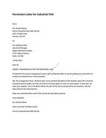 Consent Letter Accounting example of permission letter for industrial visit as its