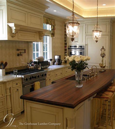kitchen island countertop with walnut wood in villanova