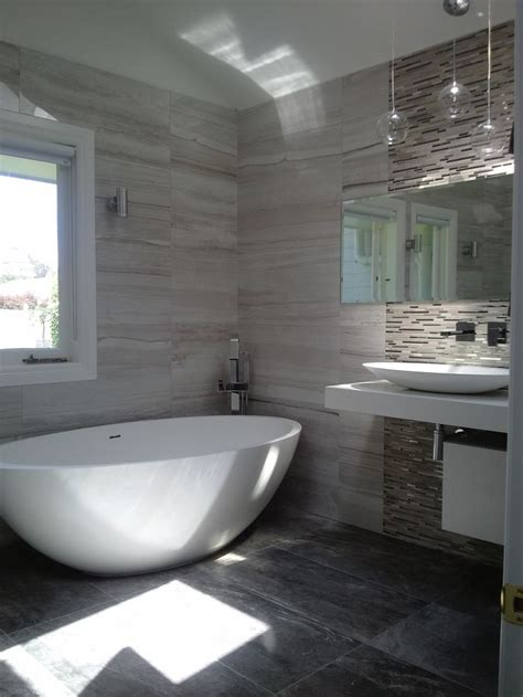 feature wall bathroom ideas love the use of the stone mix range with mosaic feature