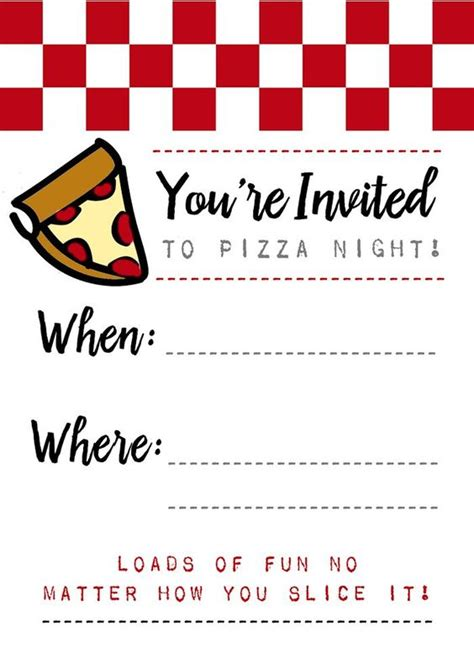 free pizza invitation template free pizza invitations to and use free