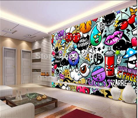graffiti bedroom wall aliexpress com buy custom baby wallpaper colorful