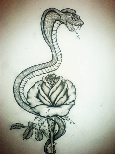 tattoos of snakes and roses snake and by iiasminum on deviantart