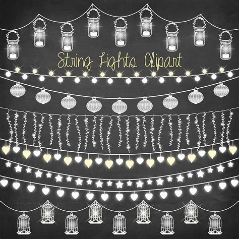 String lights clipart: CHALKBOARD STRING LIGHTS