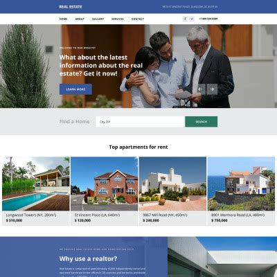 Real Estate Website Templates Real Estate Responsive Website Templates Free