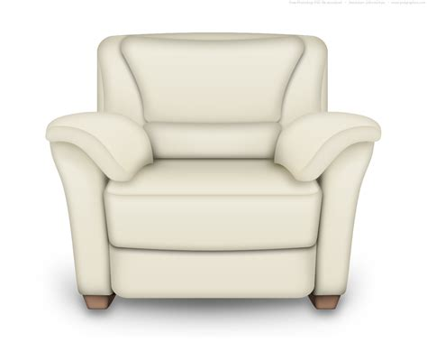 Psd Red And White Leather Armchair Interior Icon Psdgraphics