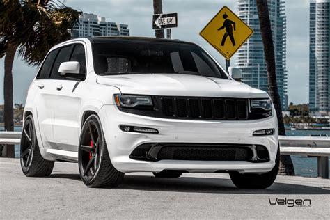 jeep grand 2017 white with black rims 22 quot velgen classic5 black concave wheels rims fits jeep