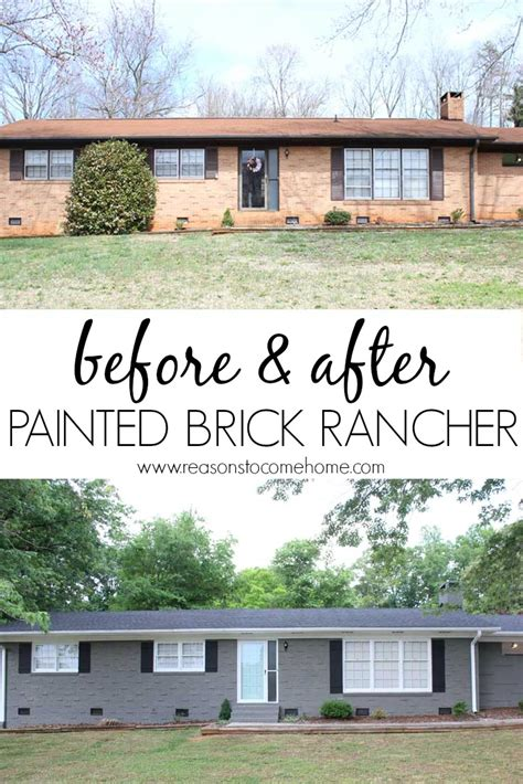 painting my house painted brick reveal