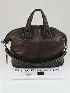 Givenchy Two Tone Purse by Givenchy Brown Black Calfskin Leather Two Tone Medium