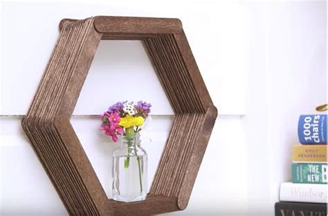 diy crafts with popsicle sticks by using only popsicle sticks and glue she makes a diy that will shock you