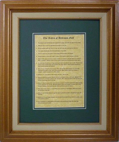 rules of bedroom golf rules of golf framed bedroom rules of golf fairway