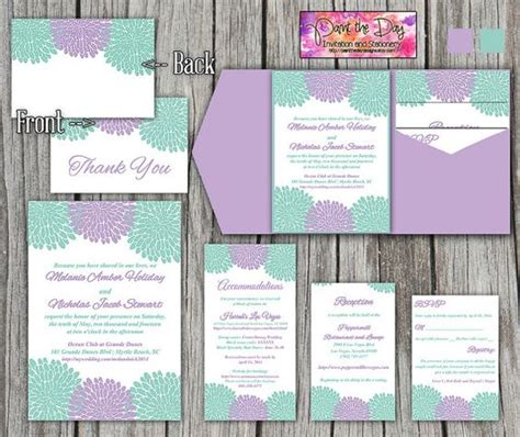 purple and green wedding invitation templates thank you cards templates and purple green weddings on