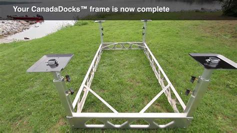 diy pedal boat trailer canadadocks do it yourself dock kit youtube
