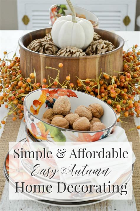 Simple Fall Table Decorations Design Decoration