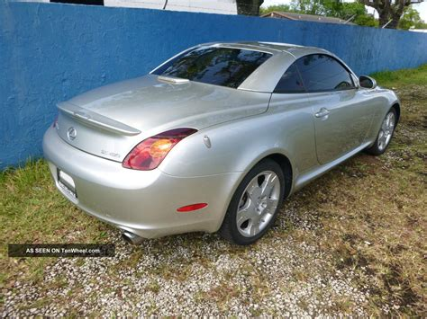 lexus convertible 4 door 2002 lexus sc430 base convertible 2 door 4 3l