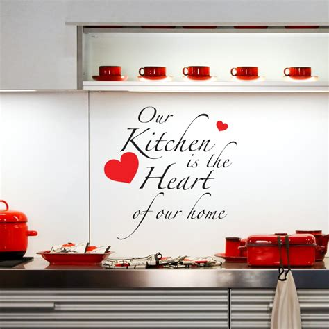 the kitchen is the of the home words wall stickers quote wall stickers word wall