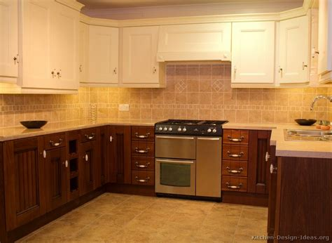 Two Toned Kitchen Cabinets by Pictures Of Kitchens Traditional Two Tone Kitchen