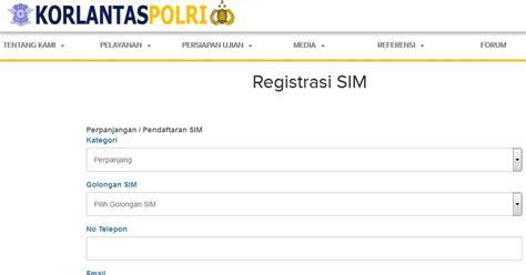 link membuat sim online daftar kota perpanjangan sim online cara membuat sim