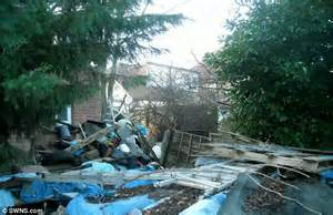 Front Yard Landscaping Photos - britain s worst garden filled with so much junk it can be seen on google earth daily mail online