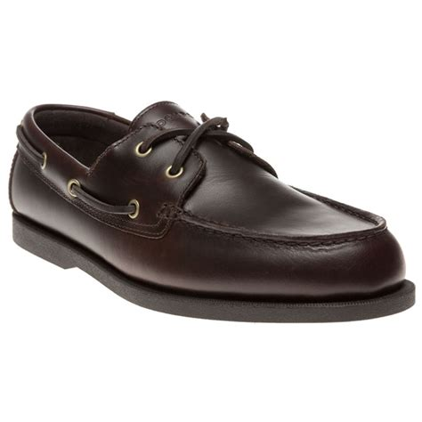 new mens rockport brown seamere 2 leather shoes boat lace