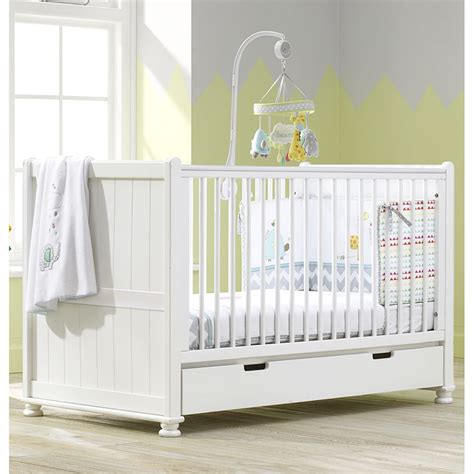 Luxury Baby Cribs Uk Hton Cot Bed Nursery Baby Crib Converts Into Junior Day Bed White Ebay