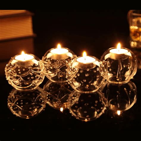 2015 vintage beautiful glass candle holders table