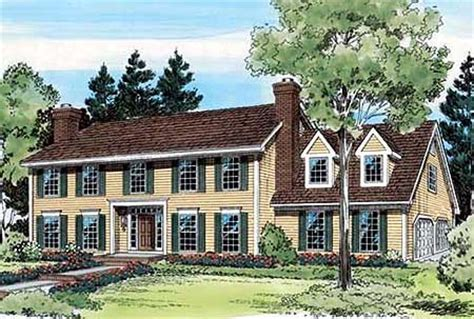 classic colonial house plans classic colonial house plan 11223g 2nd floor master