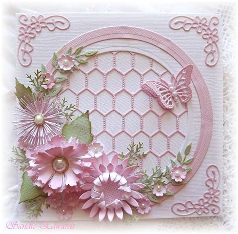 flower dies for card delightfully circle of flowers card cheery