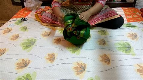 How to make Pagdi using a saree,Wedding Tray Decoration