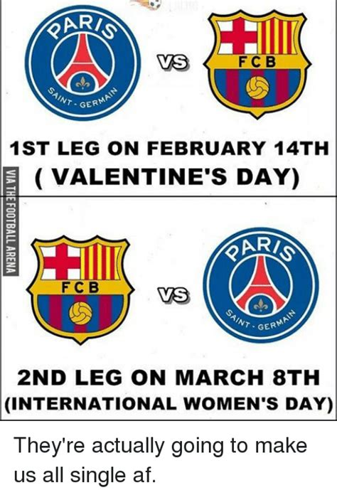 s day actually vas f c b int ger 1st leg on february 14th e s
