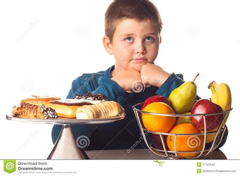 choice food boy thinking of a food choice royalty free stock photo image 17147645