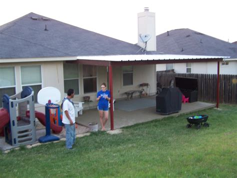 how to attach awning to house hutto texas attached porch awning carport patio covers