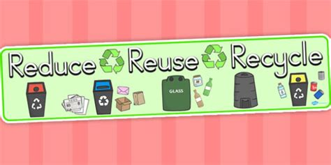 banner design recycle eco and recycling reduce reuse recycle display banner