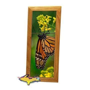 wildlife monarch butterfly michigan  framed art tiles