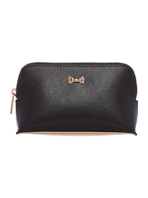 Bow Cosmetic Bag ted baker lilliya black small bow cosmetic bag house of