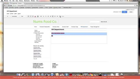 google design editor the google sites edit page toolbar
