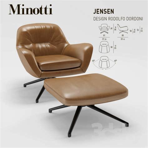 Arm Of Chair 3d Models Arm Chair Minotti Jensen Armchair