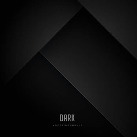 black minimal background with abstract shapes vector