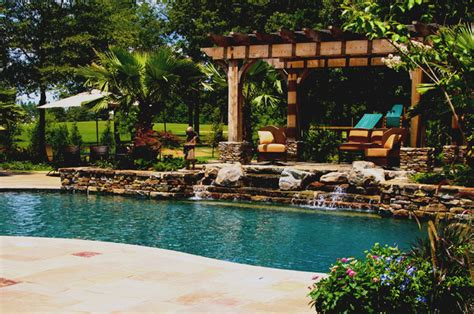 pool with outdoor living designs pool with outdoor living mississippi natural pool outdoor living design