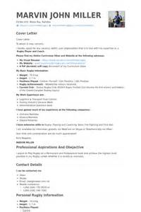 Rugby Coach Cover Letter by Rugby Coach Cover Letter