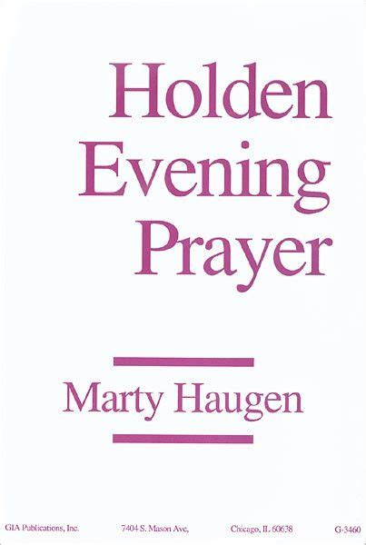 holden prayer service holden evening prayer leader edition
