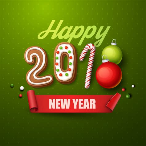 new year 2018 vector 2018 happy new year green background vector vector